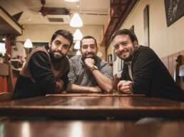 Giacomo, Luca e Denis in una foto del 2015