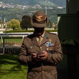 Un ufficiale al GP di Merano