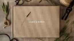 Vista dall'alto di Album di Matrimonio tipologia Fotolibro Home