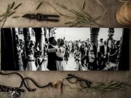 Vista dall'alto di Album di Matrimonio tipologia Fotolibro Home, aperto