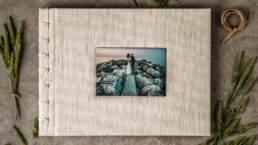 Vista dall'alto di Album di Matrimonio tipologia Fotolibro in Carta Cotone 100% Fine-Art con rilegatura giapponese